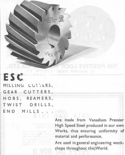 SPC558: ESC (Manchester) milling cutters 1