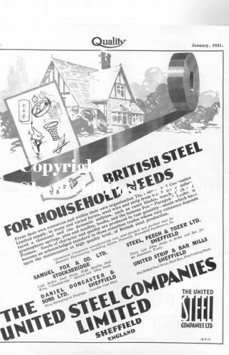 SPC578: united steel co (Quality mag advert), 1931