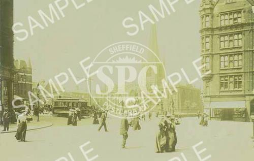 spc00022: Cathedral Square, Sheffield, c 1904 (NS13)