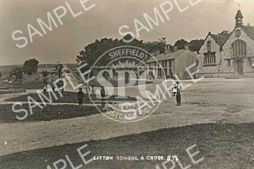 spc00025: Litton school and cross c.1906