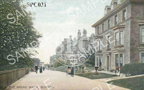 spc00031: The Broad Walk, Buxton (fence on left hand side)