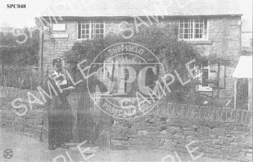 spc00048: Postman outside Totley Post Office