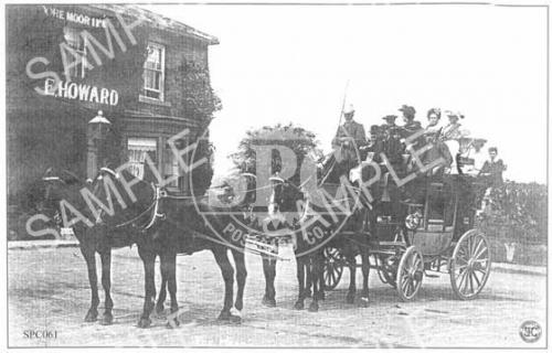 spc00061: Coach & Horses outside the Dore Moor Inn