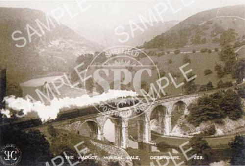 spc00069: The Viaduct, Monsal Dale, Derbyshire (Steam Train) (NT2)