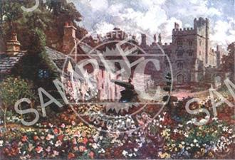 spc00081: Painting of Topiary Cottage, Haddon Hall