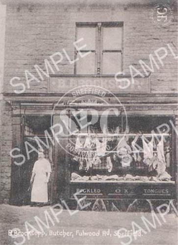 Brocksopp, butcher, Fulwood Road, Sheffield
