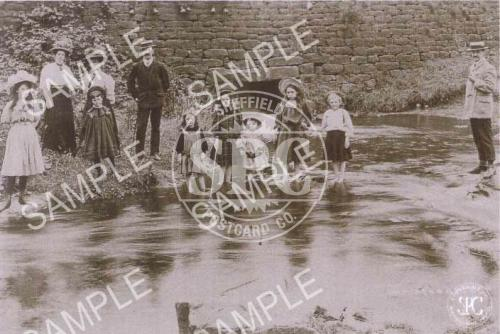 Rivelin Valley c. 1899, Sheffield (Children in River) (NS3)