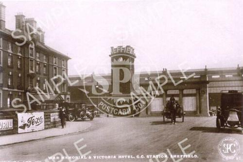 spc00132: War Memorial & Victoria Hotel, Sheffield