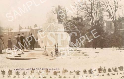 spc00138: Fountain in Winter, Weston Park, Sheffield