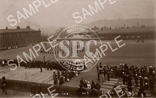 spc00151: St Georges Day, Hillsborough Barracks, Sheffield c.1913