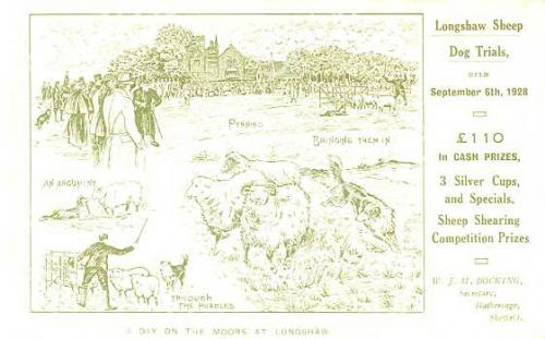 spc00162: Longshaw Sheepdog trials, 1928