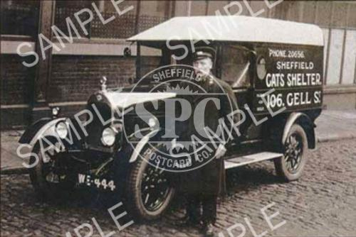 spc00181: Sheffield Cats Shelter's collecting van, c1930 (NT6)