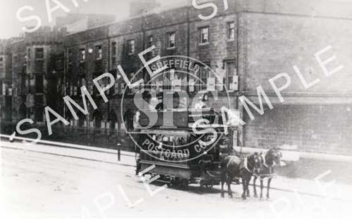 spc00183: Langsett Road, Hillsborough, Sheffield (Tram Horse)