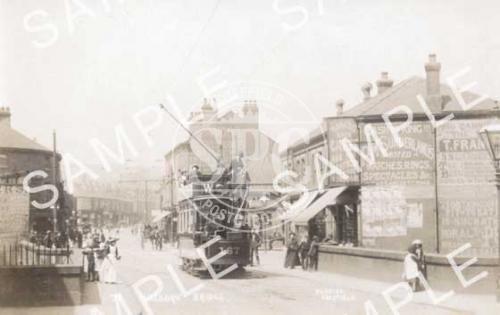 spc00195: Hillsborough Corner, Sheffield (Tram on Bridge)