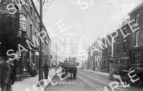 spc00216: Horse and cart, Fulwood Road, Broomhill.