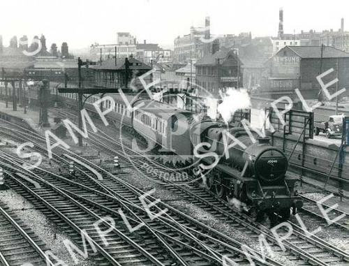 spc00221: Steam train at Sheffield Midland Station.