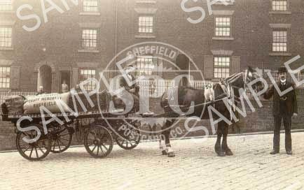 spc00227: George Israel Crapper's horse-drawn delivery wagon c1913 (NT7)