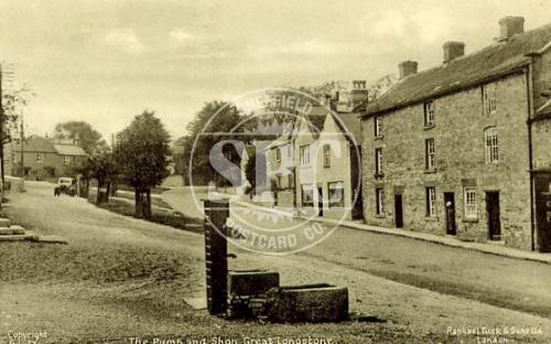 spc00229: Gt Longstone (PW) Village and pump.