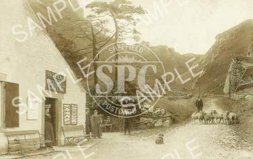 spc00236: Winnats pass and entrance to Speedwell Cavern in 1909 (ND10)