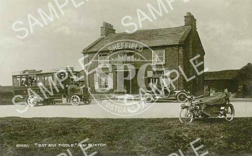 spc00247: The Cat and Fiddle inn, west of Buxton c1920 (ND8)