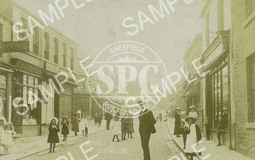 spc00248: Historic Market Street, Eckington c.1900 (ND9)