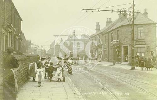 spc00254: Crookes main road, Sheffield, c 1905 (NS15)