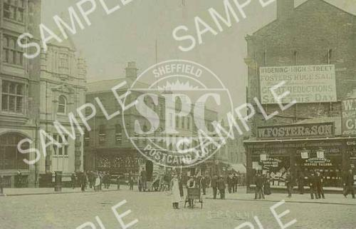 spc00260: High street, Sheffield, c1895 (NS5)