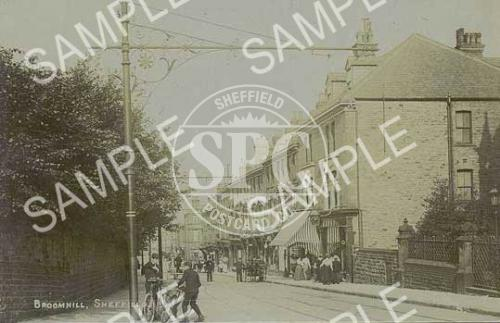 spc00262: Broomhill, Sheffield. looking from the junction with Manchester Road (NS8)