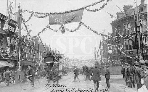 The Wicker, Sheffield Royal Visit 12th July 1905
