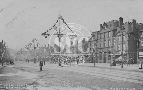 spc00270: The Wicker, Sheffield Royal Visit 12th July 1905