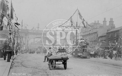 spc00271: The Wicker, Sheffield Royal Visit 12th July 1905