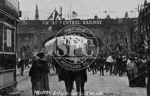 spc00273: The Wicker, Sheffield Royal Visit 12th July 1905