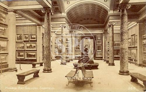 spc00281: Weston Park, Sheffield (Mappin Art Gallery Interior)