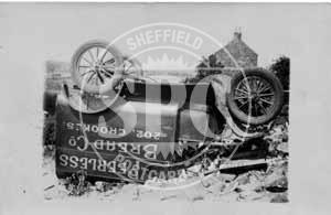 spc00463: Overturned Van at Crookes, Sheffield
