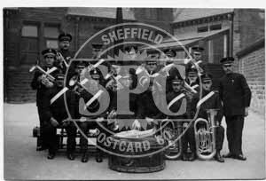 spc00484: Sheffield Heeley Band, 1917