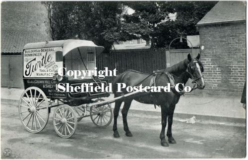 spc536: Arundel Street Sheffield (Turtle Tools Horse & Cart)