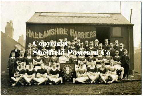 spc541: Hallamshire Harriers Sheffield outside clubhouse