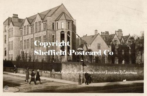 spc598: Base Hospital for wounded soldiers, Ecclesall Rd