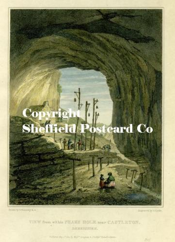 spc633: Castleton - rope walk in cave print c1822