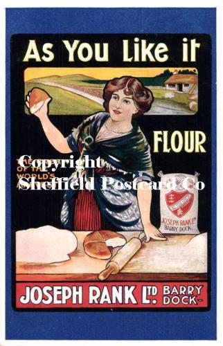 spc635: Kitchen & Food postcard adverts [as You Like it Flour]