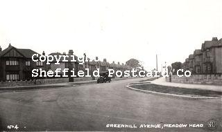 spc672: Greenhill Avenue Meadowhead No.4 (Richards photog, York on reverse)