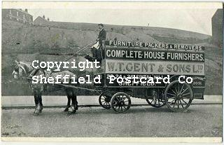 spc699: W.T.Gent Horse Drawn Furniture Wagon, Spital Hill, Sheffield.psd