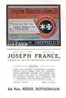 spc703: joseph rodgers & sons Cutlkery Sheffield (& Joseph France, Rotherham) (ISR1919p184xi)